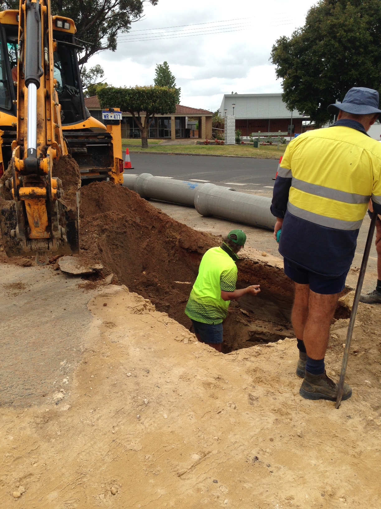 Laying new drainage pipes
