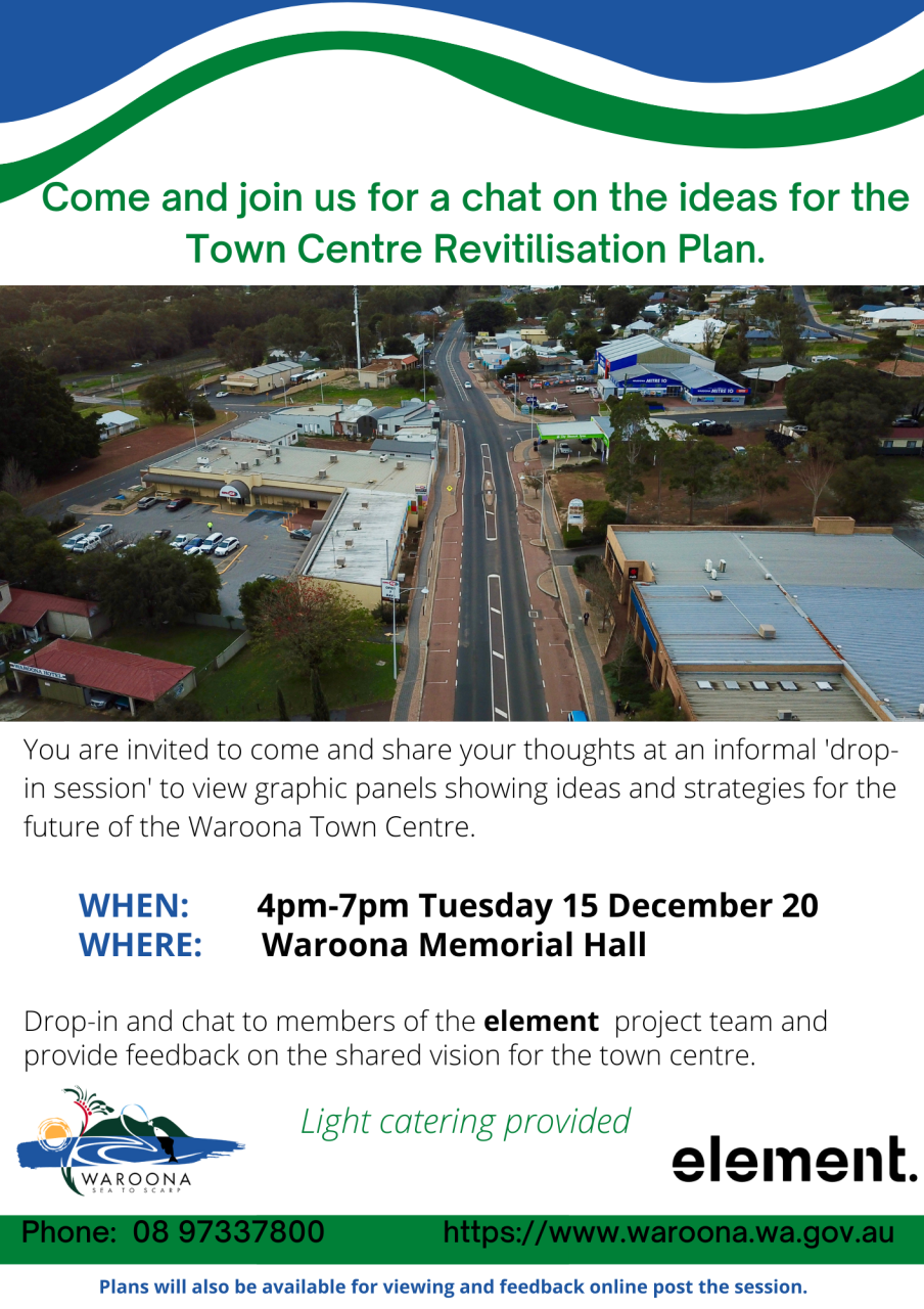 Waroona Town Centre Revitilisation - Drop-In Session